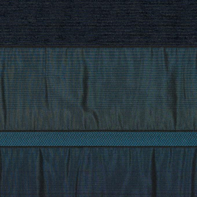 ポリエステル&ナイロン混×ボーダー(ブルー)×タフタジャガード イメージ1