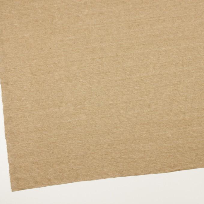 リネン×無地(カーキベージュ)×天竺ニット_全4色 イメージ2