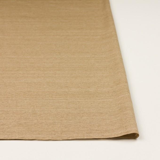 リネン×無地(カーキベージュ)×天竺ニット_全4色 イメージ3