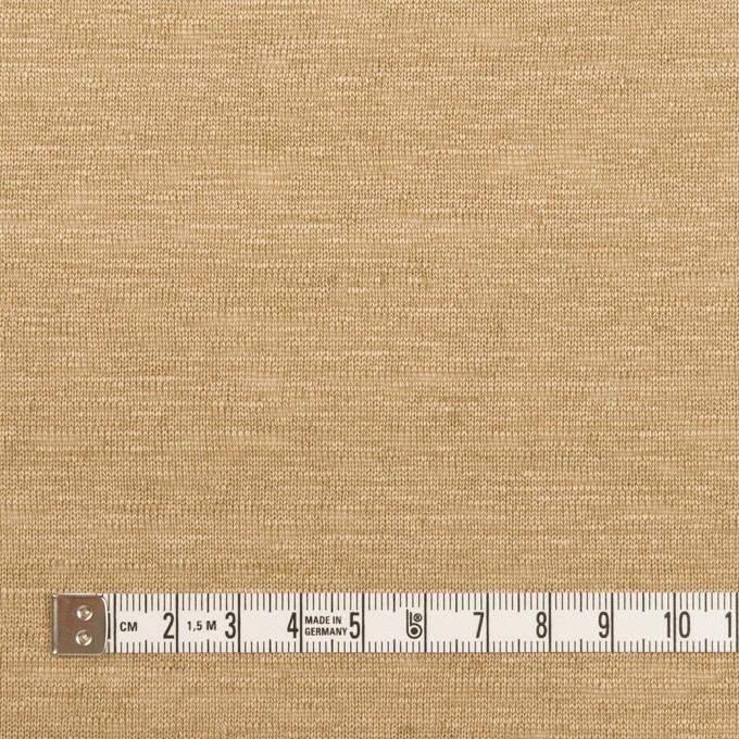 リネン×無地(カーキベージュ)×天竺ニット_全4色 イメージ4
