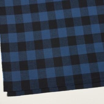 コットン×チェック(マリンブルー)×蜂巣織_全3色 サムネイル2