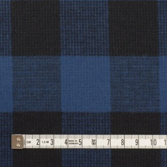 コットン×チェック(マリンブルー)×蜂巣織_全3色 サムネイル4