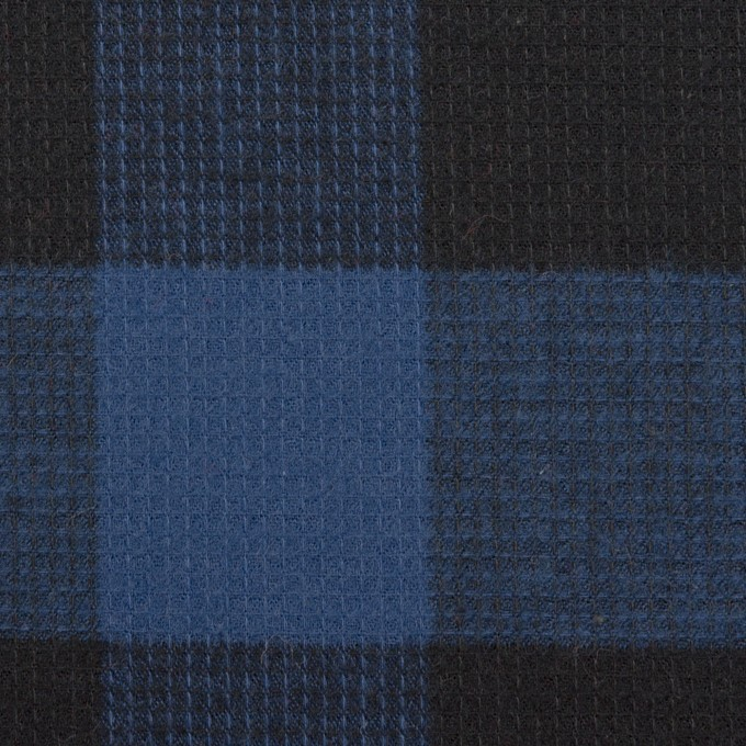 コットン×チェック(マリンブルー)×蜂巣織_全3色 イメージ1