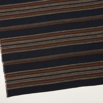 コットン&リネン混×ボーダー(ダークネイビー)×薄キャンバス・ジャガード_全2色 サムネイル2