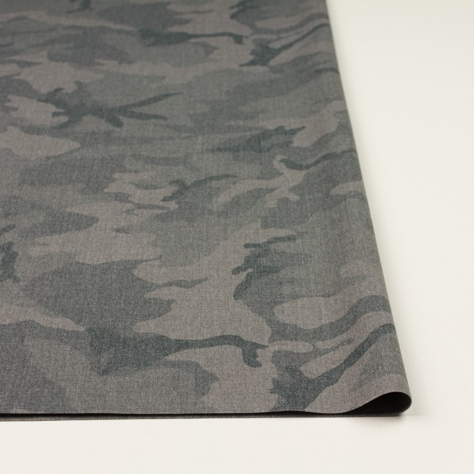 ポリエステル&レーヨン混×迷彩(グレー)×斜子織_全3色 イメージ3