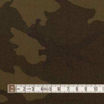 ポリエステル&レーヨン混×迷彩(ダークカーキ)×斜子織_全3色 サムネイル4