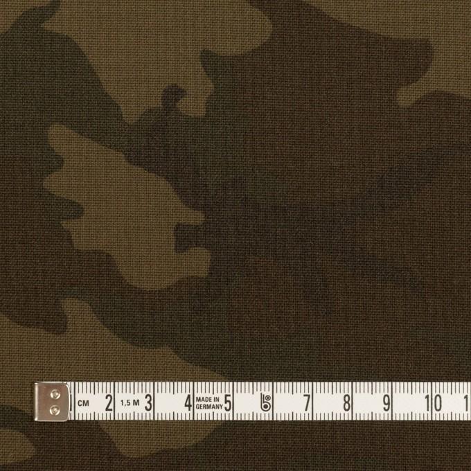 ポリエステル&レーヨン混×迷彩(ダークカーキ)×斜子織_全3色 イメージ4