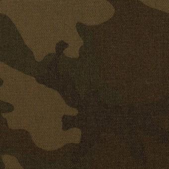 ポリエステル&レーヨン混×迷彩(ダークカーキ)×斜子織_全3色 サムネイル1