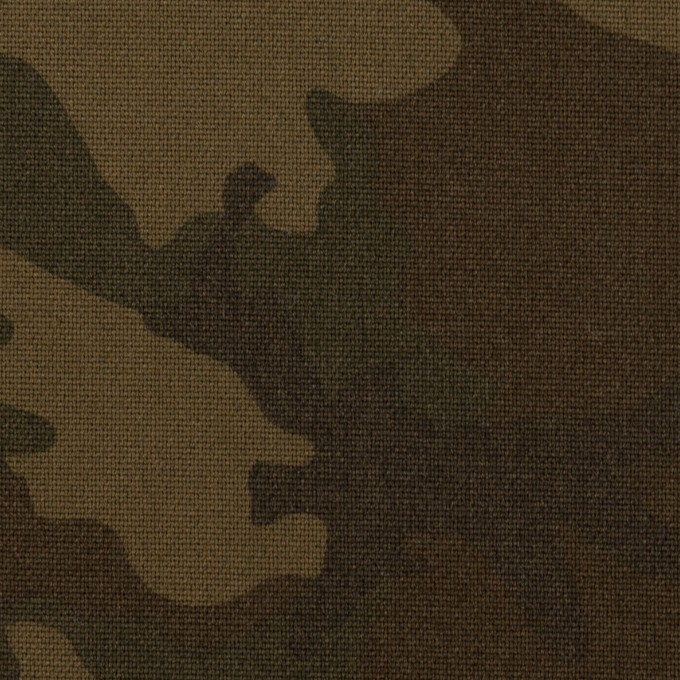 ポリエステル&レーヨン混×迷彩(ダークカーキ)×斜子織_全3色 イメージ1