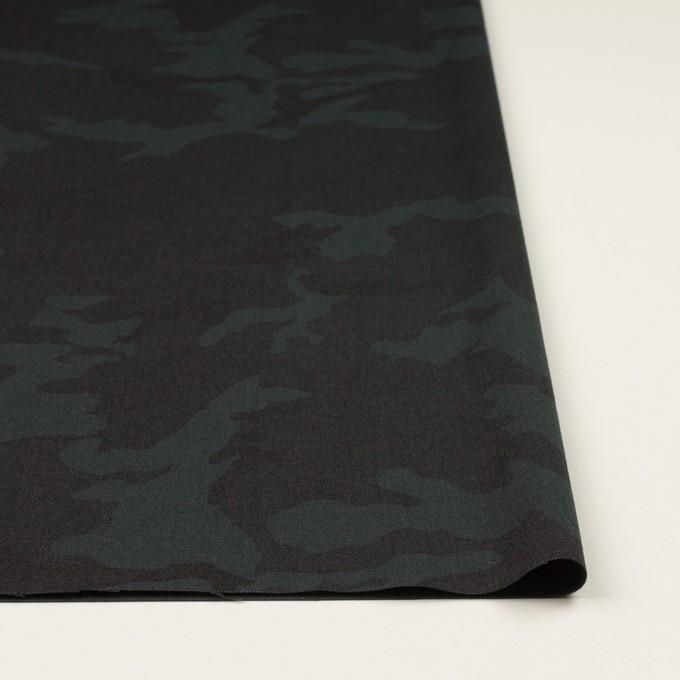 ポリエステル&レーヨン混×迷彩(チャコール)×斜子織_全3色 イメージ3