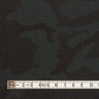 ポリエステル&レーヨン混×迷彩(チャコール)×斜子織_全3色 サムネイル4