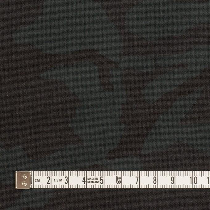 ポリエステル&レーヨン混×迷彩(チャコール)×斜子織_全3色 イメージ4