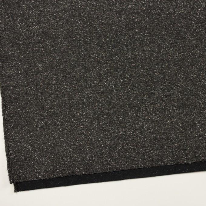 コットン&ポリエステル混×ミックス(チャコール)×厚サージ イメージ2
