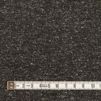 コットン&ポリエステル混×ミックス(チャコール)×厚サージ サムネイル4