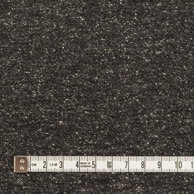 コットン&ポリエステル混×ミックス(チャコール)×厚サージ イメージ4