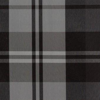 ナイロン&トリアセテート×チェック(シルバーグレー&ブラック)×形状記憶タフタ サムネイル1