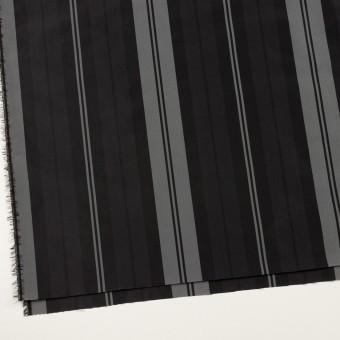 ナイロン&トリアセテート×ストライプ(シルバーグレー&ブラック)×形状記憶タフタ サムネイル2
