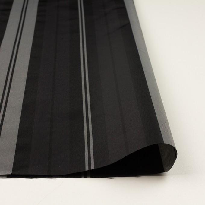 ナイロン&トリアセテート×ストライプ(シルバーグレー&ブラック)×形状記憶タフタ イメージ3