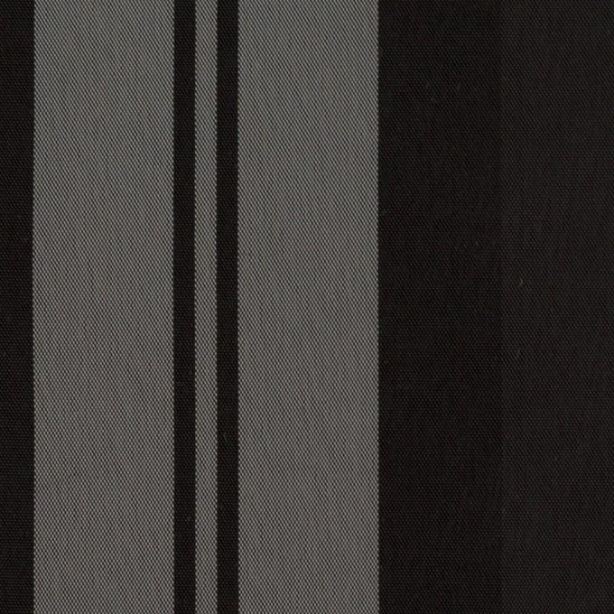 ナイロン&トリアセテート×ストライプ(シルバーグレー&ブラック)×形状記憶タフタ イメージ1