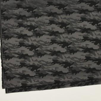 コットン&ポリエステル混×迷彩(チャコールグレー)×サテンジャガード・ストレッチ_全2色 サムネイル2