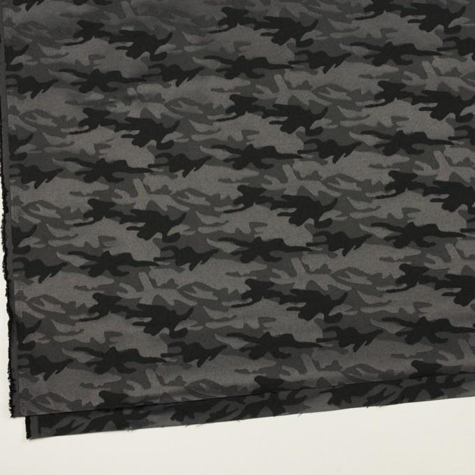 コットン&ポリエステル混×迷彩(チャコールグレー)×サテンジャガード・ストレッチ_全2色 イメージ2