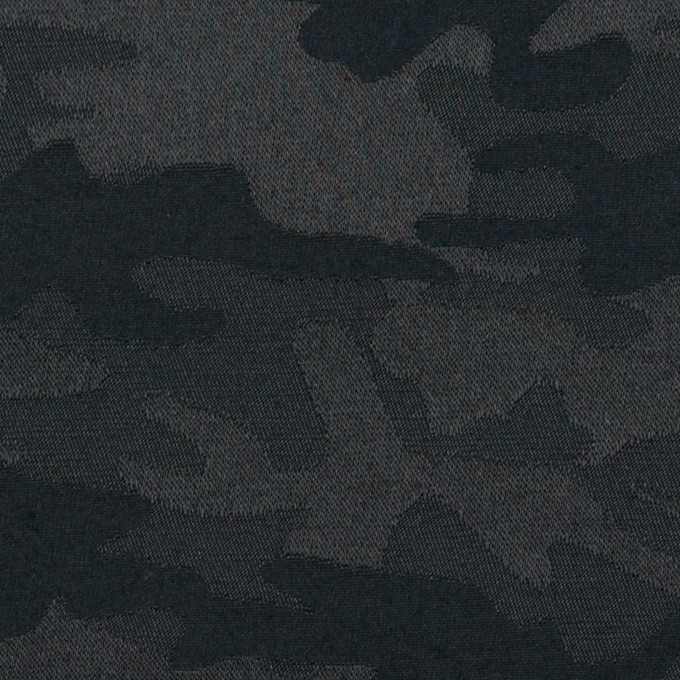 コットン&ポリエステル混×迷彩(ダークネイビー)×サテンジャガード・ストレッチ_全2色 イメージ1