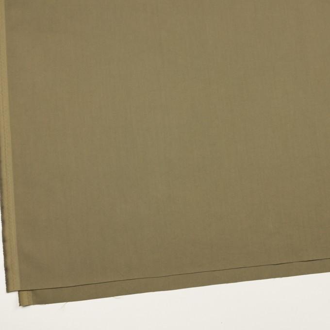 コットン&ポリエステル混×無地(カーキグリーン)×サージストレッチ_全2色 イメージ2