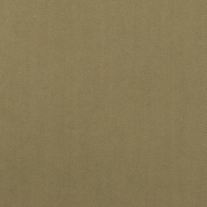 コットン&ポリエステル混×無地(カーキグリーン)×サージストレッチ_全2色 イメージ1