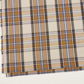 コットン×チェック(アイボリー&キャラメル)×斜子織 サムネイル2