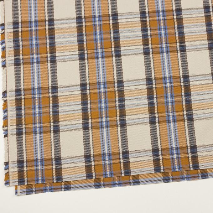 コットン×チェック(アイボリー&キャラメル)×斜子織 イメージ2