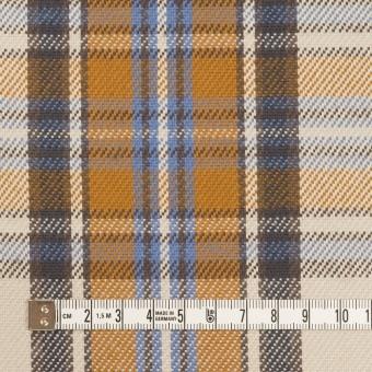 コットン×チェック(アイボリー&キャラメル)×斜子織 サムネイル4