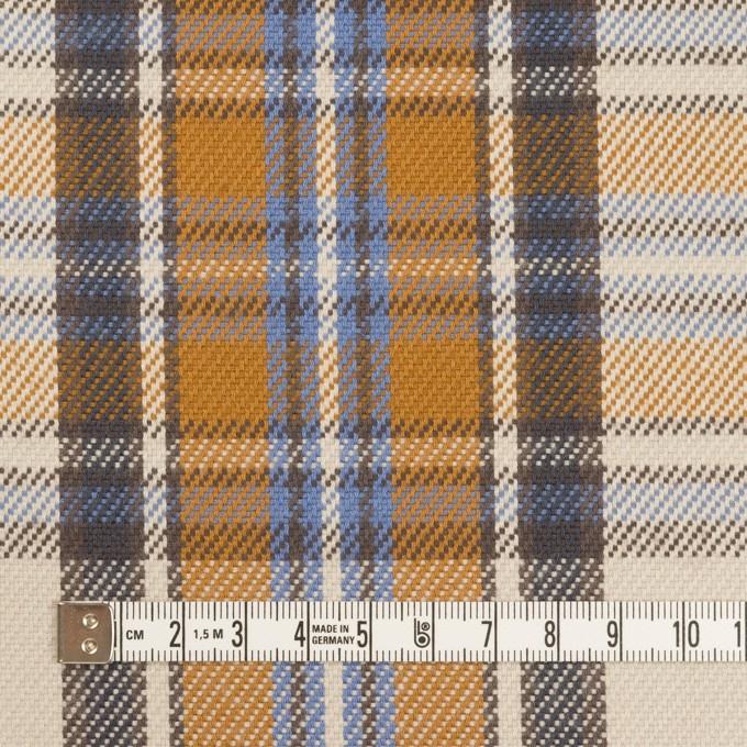 コットン×チェック(アイボリー&キャラメル)×斜子織 イメージ4