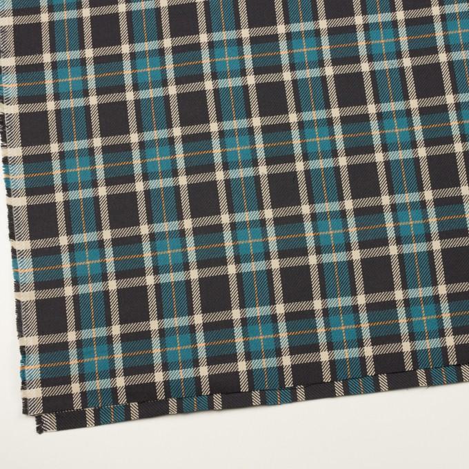 コットン×チェック(ブルーグレー&チャコール)×斜子織 イメージ2