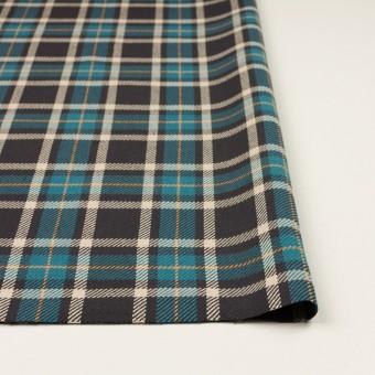 コットン×チェック(ブルーグレー&チャコール)×斜子織 サムネイル3