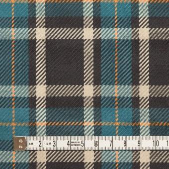 コットン×チェック(ブルーグレー&チャコール)×斜子織 サムネイル4