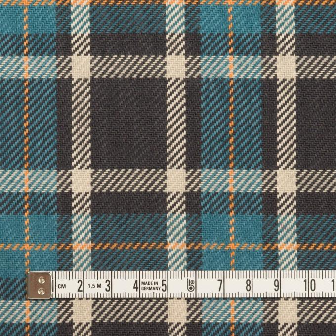 コットン×チェック(ブルーグレー&チャコール)×斜子織 イメージ4