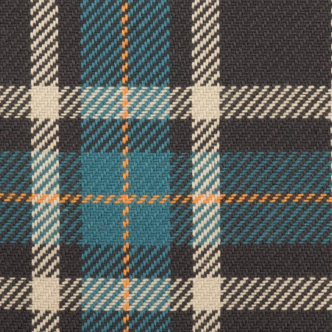 コットン×チェック(ブルーグレー&チャコール)×斜子織 イメージ1