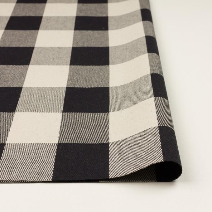 コットン×チェック(アイボリー&ブラック)×厚ビエラ イメージ3