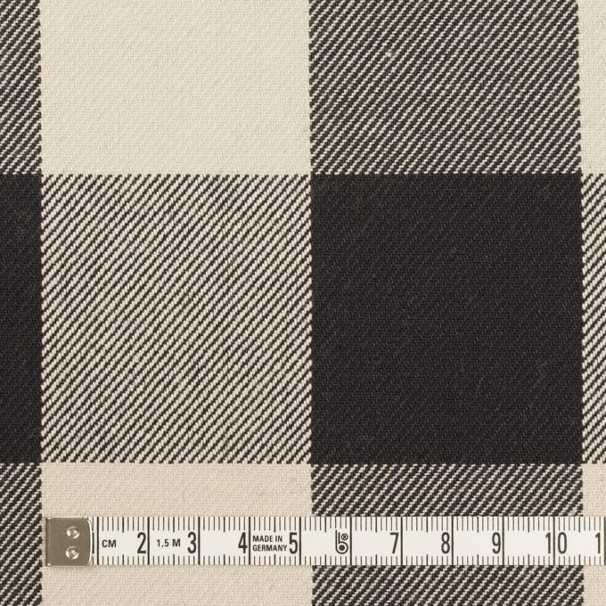 コットン×チェック(アイボリー&ブラック)×厚ビエラ イメージ4