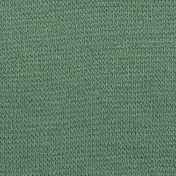 ウール×無地(フォレストグリーン)×天竺ニット_全3色 イメージ1