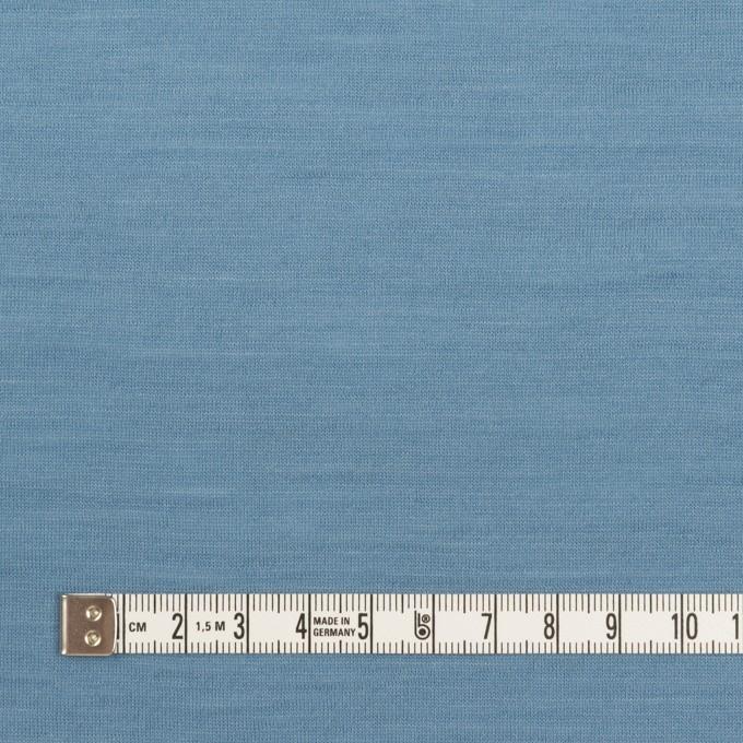 ウール×無地(チョークブルー)×天竺ニット_全3色 イメージ4