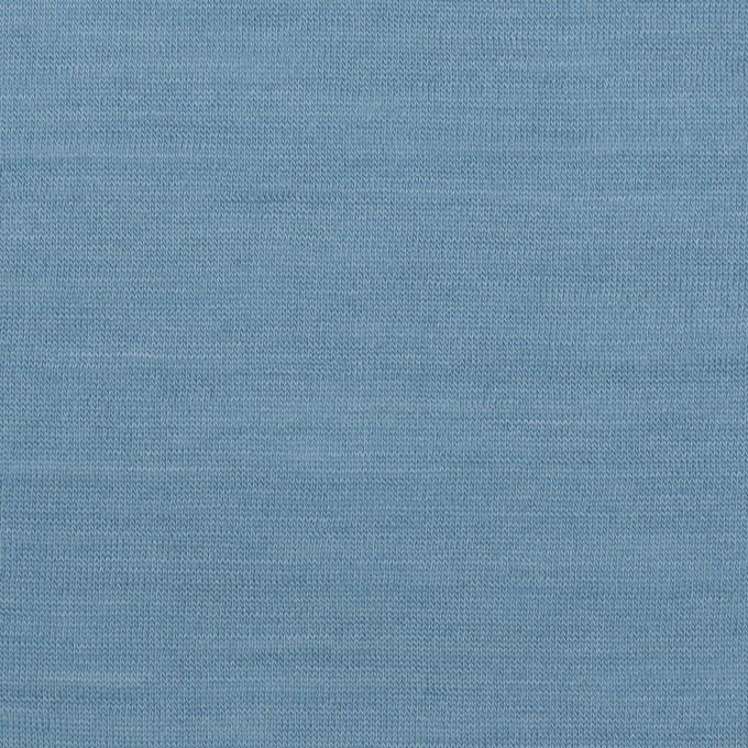 ウール×無地(チョークブルー)×天竺ニット_全3色 イメージ1