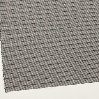 ウール&ポリウレタン×チェック&ボーダー(ホワイト&ブラック)×千鳥格子ストレッチ_全2色_イタリア製 サムネイル2
