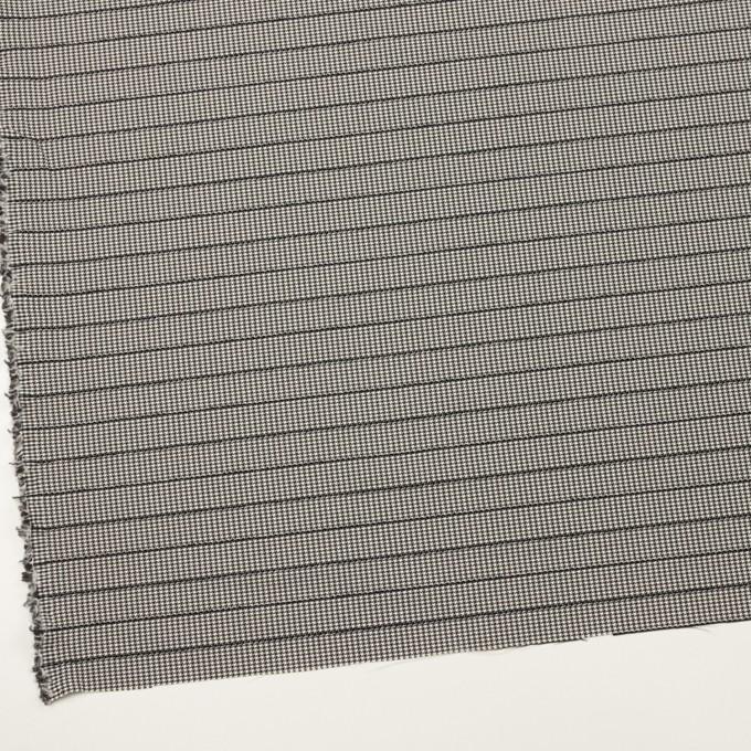 ウール&ポリウレタン×チェック&ボーダー(ホワイト&ブラック)×千鳥格子ストレッチ_全2色_イタリア製 イメージ2