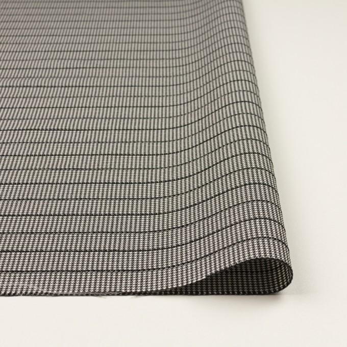 ウール&ポリウレタン×チェック&ボーダー(ホワイト&ブラック)×千鳥格子ストレッチ_全2色_イタリア製 イメージ3