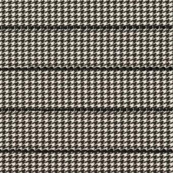 ウール&ポリウレタン×チェック&ボーダー(ホワイト&ブラック)×千鳥格子ストレッチ_全2色_イタリア製
