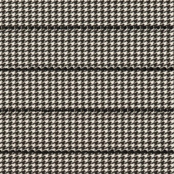 ウール&ポリウレタン×チェック&ボーダー(ホワイト&ブラック)×千鳥格子ストレッチ_全2色_イタリア製 イメージ1