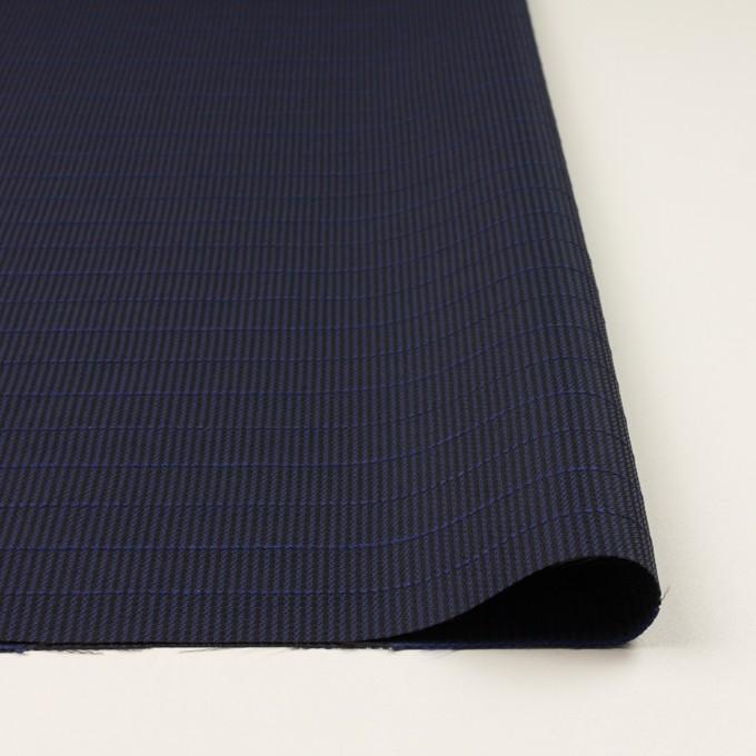 ウール&ポリウレタン×チェック&ボーダー(グレープ&ブラック)×千鳥格子ストレッチ_全2色_イタリア製 イメージ3