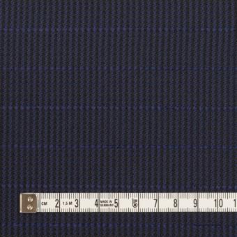 ウール&ポリウレタン×チェック&ボーダー(グレープ&ブラック)×千鳥格子ストレッチ_全2色_イタリア製 サムネイル4