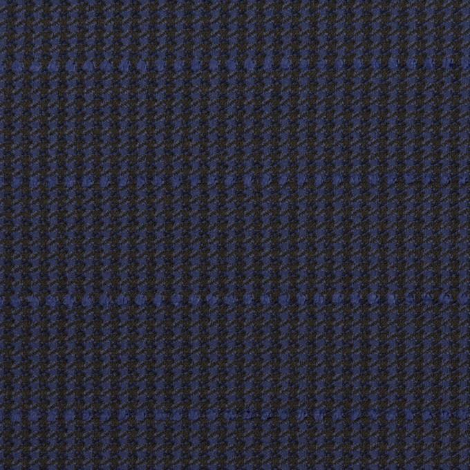 ウール&ポリウレタン×チェック&ボーダー(グレープ&ブラック)×千鳥格子ストレッチ_全2色_イタリア製 イメージ1